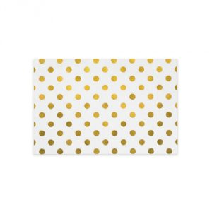 Jillson Roberts Hot Stamped Tissue Available in 5 Colors, Metallic Gold Dots, 24-Sheet Count