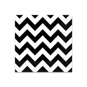 Black & White Chevron Beverage Napkins (36 Pack)