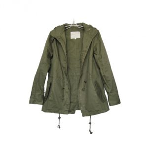 Vedem Women's Hooded Drawstring Military Jacket Parka Coat
