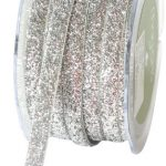 May Arts 3/8-Inch Wide Ribbon, Silver Metallic Velvet