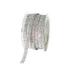 May Arts 3/8-Inch Wide Ribbon, Silver Metallic Velvet