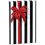 Trendy Brand New Black & White Stripes Wrap Wrapping Paper Roll 16 Foot