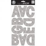 me & my BIG ideas mambiSTICKS Themed Stickers, Upper Case Alphabet and Numbers, Silver Glitter