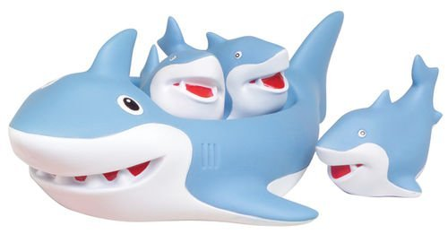 Shark Bath Toys : Shark family bath toy floating fun by d distributing