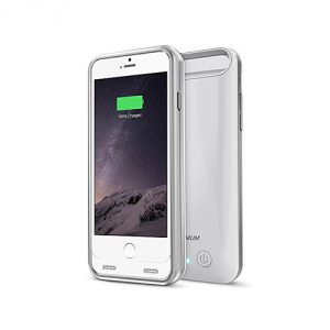 iPhone 6S Battery Case - iPhone 6 Battery Case, Trianium Atomic S iPhone 6 6S Portable Charger Charging Case [White/Silver] - 3100mAh Battery Pack Juice Bank [MFI Apple Certified]