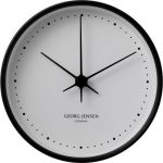Georg Jensen KOPPEL 15 cm wall clock, stainless steel black with white dial