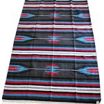 Del Mex (TM) Hand Made Woven Mexican Diamond Falsa Blanket