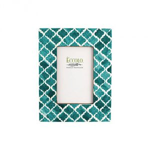 Eccolo Naturals Frame, 5 by 7-Inch, Moorish Tiles Turquoise