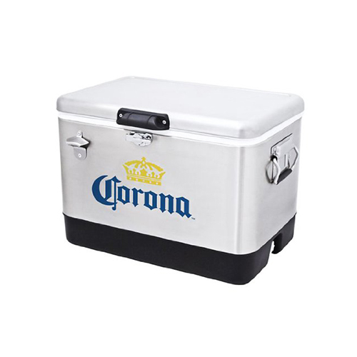 corona stainless steel beer cooler 54 quart with bottle opener coleman love the edit. Black Bedroom Furniture Sets. Home Design Ideas