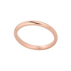 Stacking Fine 14k Rose Gold Sizable Plain Toe Ring, Size 5.25
