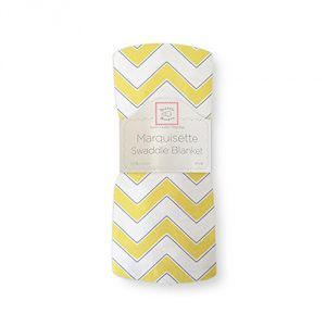 SwaddleDesigns Marquisette Swaddling Blanket, Chevron, Yellow
