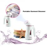 Ebest Mini Travel Portable Garment Steamer,handheld Fabric Steamer Clothes Steam Cleaner Travel Pouch Included