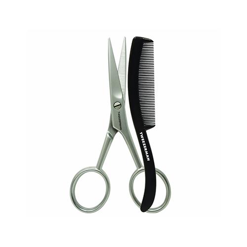 Tweezerman G.E.A.R. Moustache Scissors with Comb