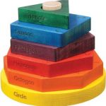 Shape Stacker in Rainbow Colors - Made in USA