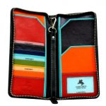Visconti SP28 Multi Colored Soft Leather Travel Wallet Case