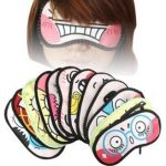 Leegoal Silly Face Sleeping Funny Novelty Eye Cover (Random Color, 4PCS)