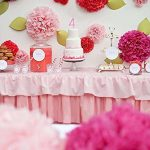 Daisy Cooper Tissue Paper Party Pom Pom Decoration Hot Pink, 16-inch Set of 5