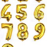 "Helium Foil Digital balloons ,birthday holidays weddin party supply Golden 40""1"