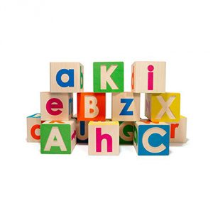 Uncle Goose Upper and Lowercase ABC Blocks - Made in USA