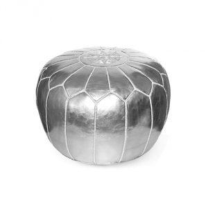 Ikram-Pouf-Silver
