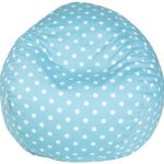 Majestic Home Goods Bean Bag, Aquamarine Small Polka Dot, Small