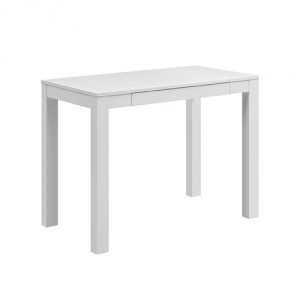 Altra Parsons Desk with Drawer, White