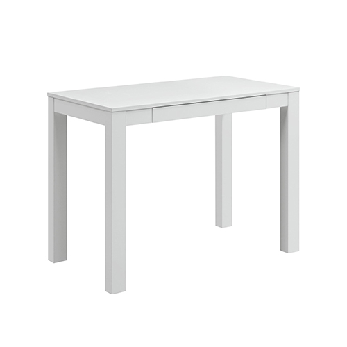 Altra Parsons Desk With Drawer White Love The Edit