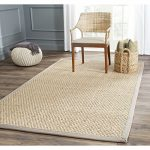 Safavieh Natural Fiber Collection NF114P Natural and Grey Seagrass Area Rug, 5 feet by 8 feet (5' x 8')