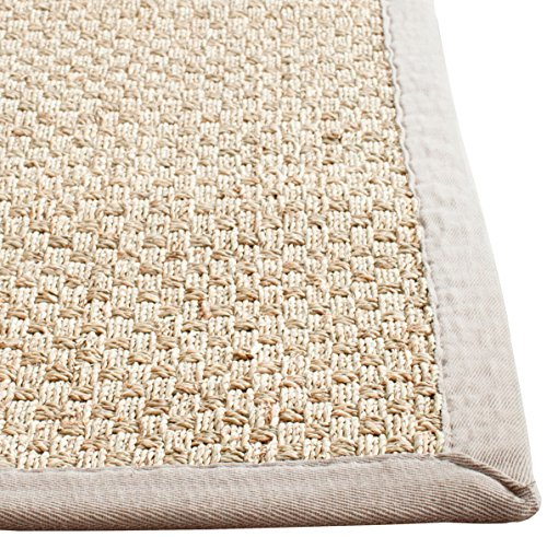 safavieh natural fiber collection nf114p natural and grey seagrass area rug 5 feet by 8 feet 5. Black Bedroom Furniture Sets. Home Design Ideas