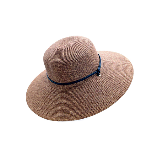 Sloggers 442DB01 Women's Wide Brim Braided Sun Hat with Wind Lanyard – Dark  Brown – Rated UPF 50+ Maximum Sun Protection