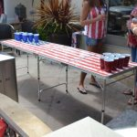 GoPong 8-Foot Portable Beer Pong / Tailgate Tables (Black, Football or American Flag)