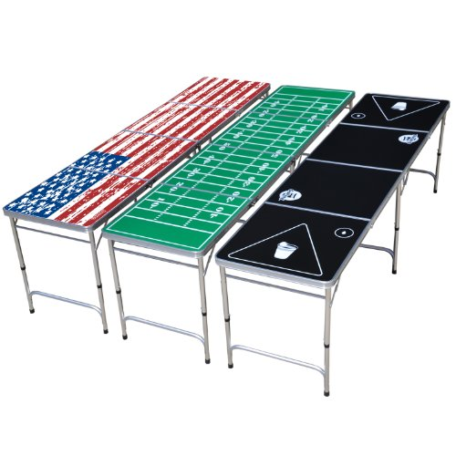 Gopong 8 Foot Portable Beer Pong Tailgate Tables Black