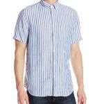 Steven Alan Men's Short Sleeve Single Needle Shirt