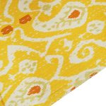 Abstract Deigned Gudri Yellow Kantha Pure Cotton Quilt Queen Size Bed Spread 108 X 90
