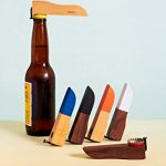 Areaware Bottle Opener, Black Dipped Walnut