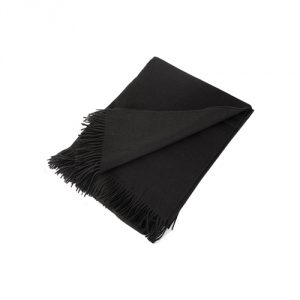 "Pure Cashmere Throw in 4 Ply (Black, 60"" x 80"")"