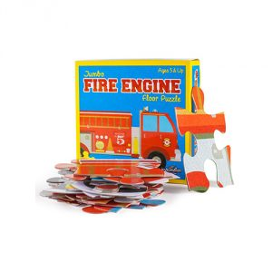 24 Piece Jumbo Fire Engine Floor Puzzle by Imagination Generation