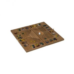 Square Root Games 0021 Four-Player Mancala in Natural Finish Solid Hardwood