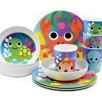 French Bull - BPA Free Kids Cups - 6 ounce Melamine Kids Juice Cup Set - Ocean, Set of 4