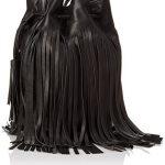 LOEFFLER RANDALL Industry Bucket Cross Body Bag, Black/Black, One Size