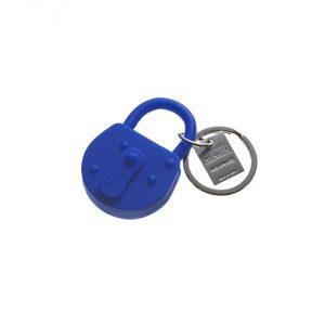 Areaware Lock Keychain, Blue