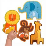 Petit Collage Beginner Jigsaw Floor Puzzle, Safari Babies
