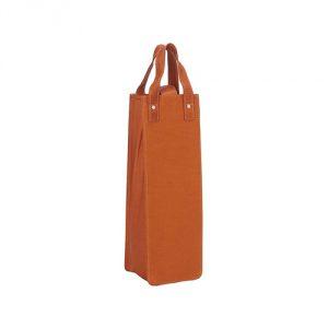Piel Leather Single Wine Tote, Saddle, One Size