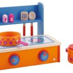 Sevi 1831 wooden toy - Pretend Play - Folding Stove - (Cod. 82271)