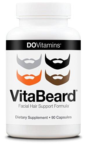 VitaBeard Facial Hair Growth Multivitamin - The Original Beard Growth Supplement for Men, Grow a Thicker Fuller Beard - Vegan, Non-GMO, 3rd Party Tested, 90 Capsules