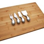 Jetty Home Cheese Knives with Engraved Usage Labels: 4-Piece Stainless Steel Knife Gift Set