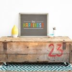 "Kid's Wall Art ""Choose Happiness"" 14x11 Print for Boys, Girls, Teen's, Baby's Room, Nursery Decor, Modern Vintage, Features Retro Type with an Inspiring Message"