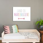 Land of Makebelieve 14x11 Wall Art Print for Boys, Girls or Baby's Room, Nursery Decor, Perfect for a Playroom or Classroom, Gender Neutrall