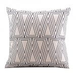 "Create For-Life Cotton Linen Decorative Pillowcase Throw Pillow Cushion Cover Square 18"" Retro White Solid Triangle"