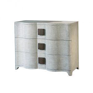 Global Views Toile Linen Chest, Oversized Item/